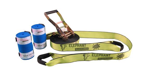 Elephant Slacklines Rookie Flash'line-Set neon